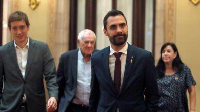 Torrent llama al orden a un diputado de Cs por citar el artículo de Torra sobre los españoles