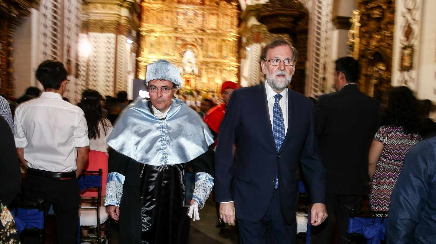 Mariano Rajoy, en la Universidad SEK de Quito.