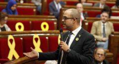 El conseller de Interior, Miquel Buch, en el Parlament.