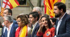 Trescientas mil personas marchan en Barcelona por el Día de la Hispanidad