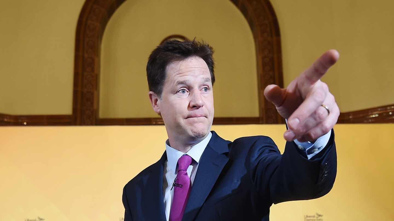 Fotografía de archivo del ex vice primer ministro del Reino Unido Nick Clegg.