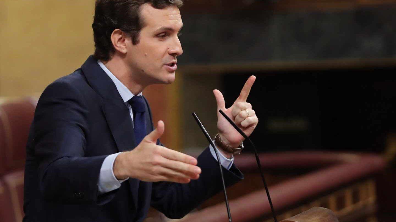 Pablo Casado durante su intervención de este miércoles en el Congreso