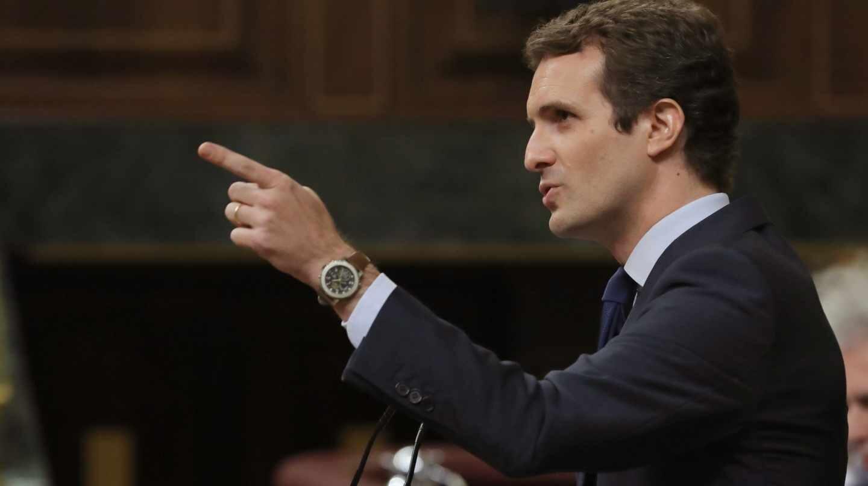 Pablo Casado en la última sesión de control al Gobierno