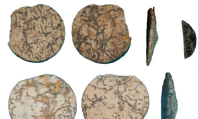 Adornos personales encontrados en un yacimiento neolítico de Granada