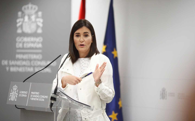 Carmen Montón, el día que anunció su dimisión como ministra de Sanidad tras desvelarse el plagio de su TFM.