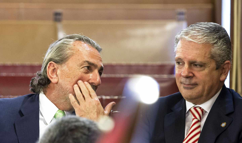 Francisco Correa y Pablo Crespo, en una de las sesiones del juicio.