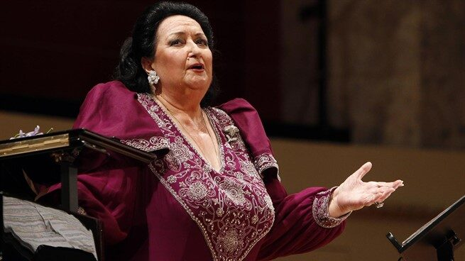 La soprano Montserrat Caballé.