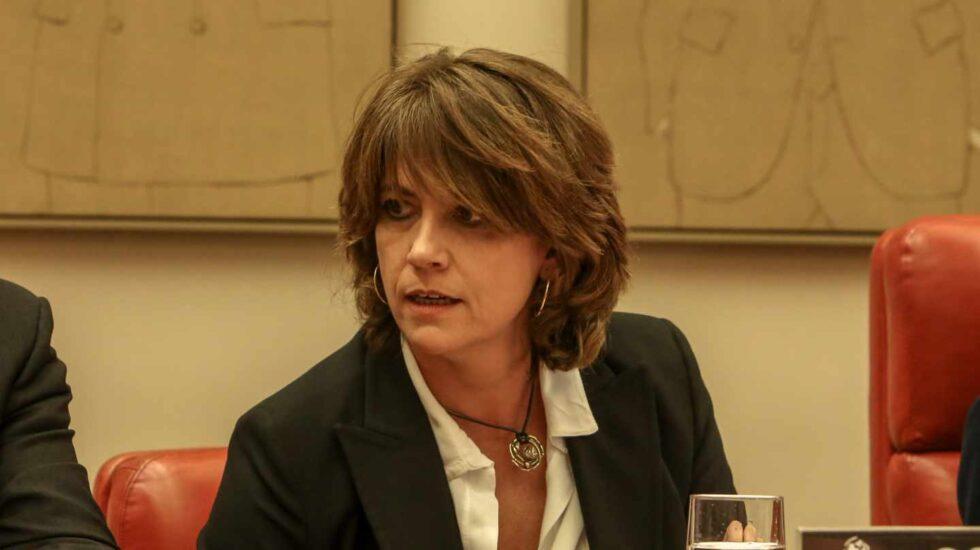 La ministra de Justicia, Dolores Delgado, en el Congreso.