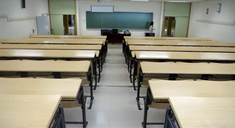 Un aula vacía en un centro de formación.