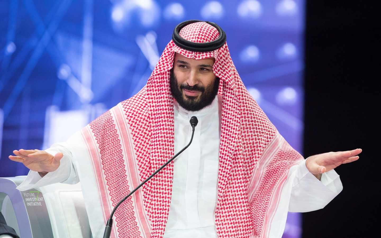 Mohamed bin Salman, heredero saudí, en el lllamado Davos del Desierto, en Riad.