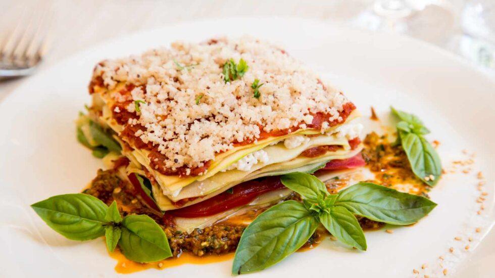 Lasagna del Levél Veggie Bistro