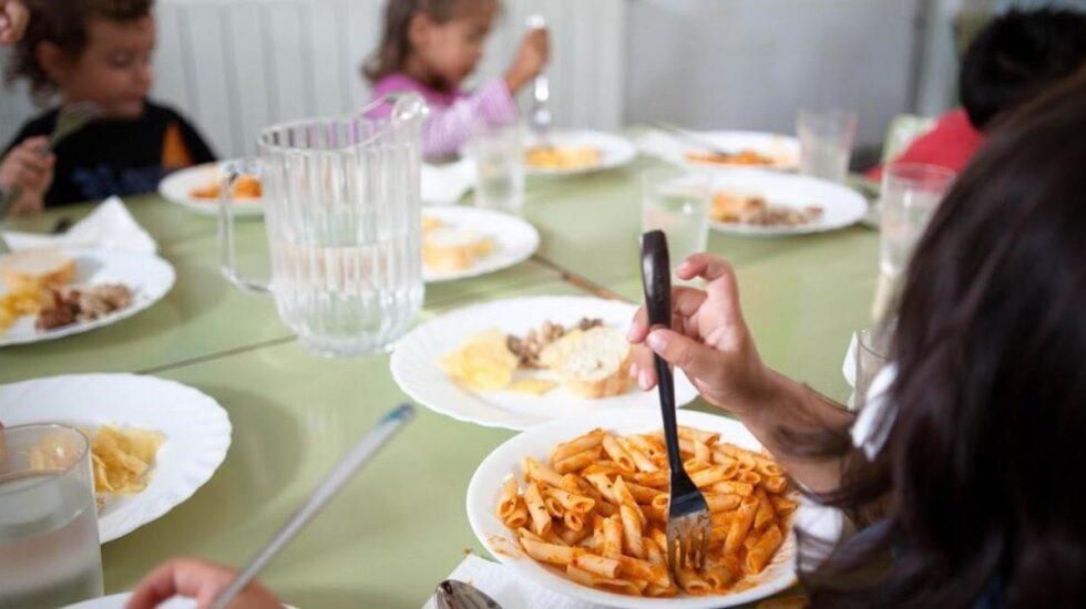 Menú en comedor escolar