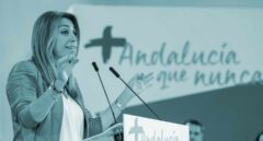 La presidenta andaluza, Susana Díaz, durante su intervención en la reunión del comité director del PSOE-A hoy en Sevilla, donde ha sido nombrada candidata a las elecciones andaluzas.