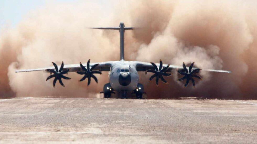 Un avión de transporte militar Airbus A400M.