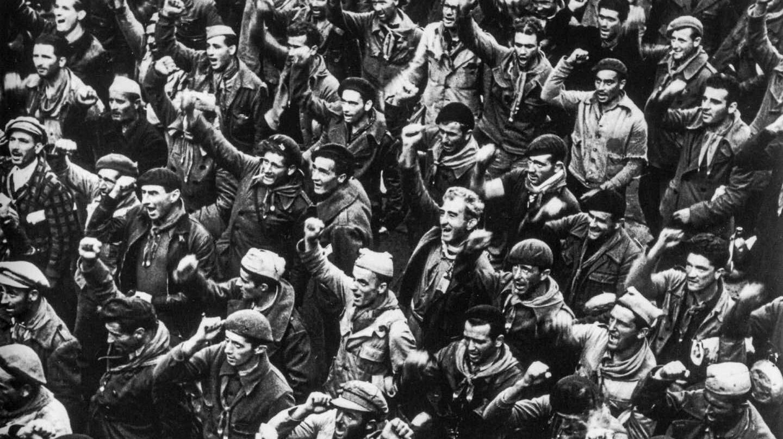 El último adiós a las brigadas internacionales.