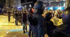 Antidisturbios de los Mossos d'Esquadra, durante el dispositivo ante el primer aniversario del 1-O.
