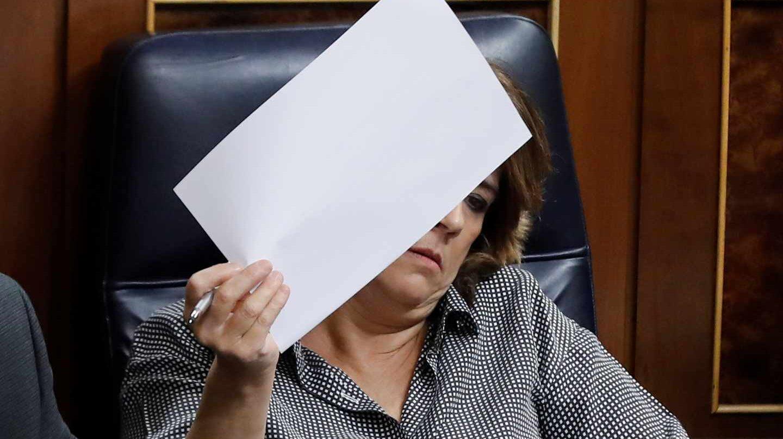 La ministra de Justicia, Dolores Delgado, este miércoles en el Congreso de los Diputados.