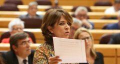 Dolores Delgado, durante una comparecencia en el Senado.