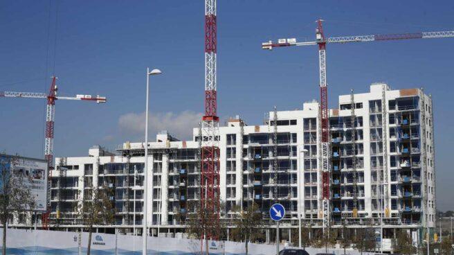 Pisos en construcción en Madrid.