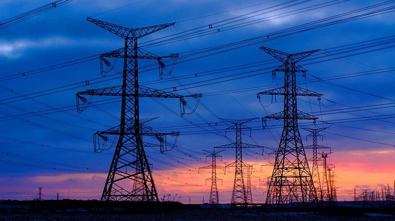 Torres de transporte de electricidad.