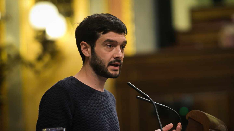 El diputado Pablo Bustinduy en el Congreso.
