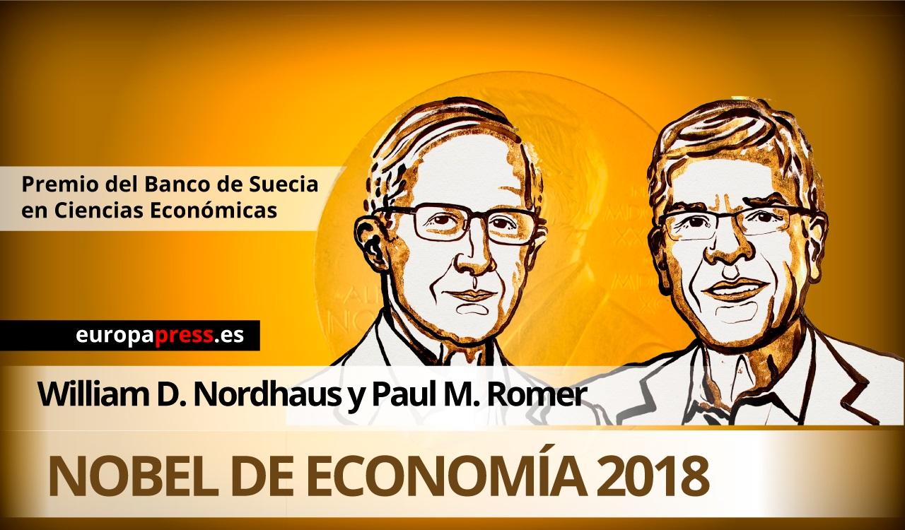 Premios Nobel de Economía 2018.
