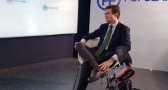 El presidente del PP, Pablo Casado, durante la entrevista con El Independiente en la sede de Génova.