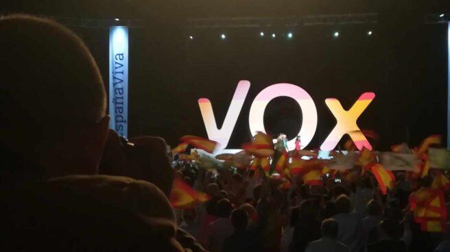 Acto de Vox en el palacio de Vistalegre de Madrid.