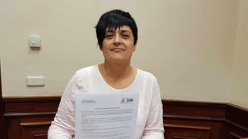 La portavoz de EH Bildu en el Congreso, Marian Beitialarrangoitia
