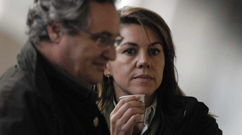 Ignacio López del Hierro y María Dolores de Cospedal, ex secretaria general del PP.