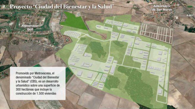 Recreación de la Ciudad del Bienestar y la Salud, proyectada sobre tres millones de metros cuadrados.