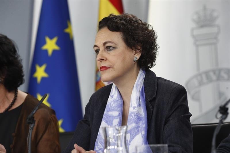 La ministra de Trabajo, Magdalena Valerio, en rueda de prensa tras el Consejo de Ministros.