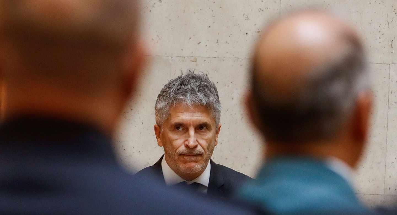 El ministro Fernando Grande-Marlaska, en un acto público.