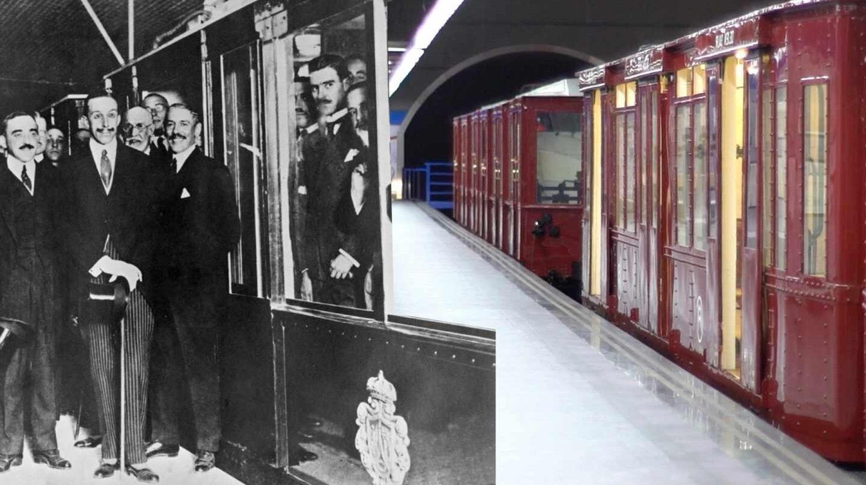 Trenes de Metro restaurados correspondientes con la inauguración del metropolitano en 1919