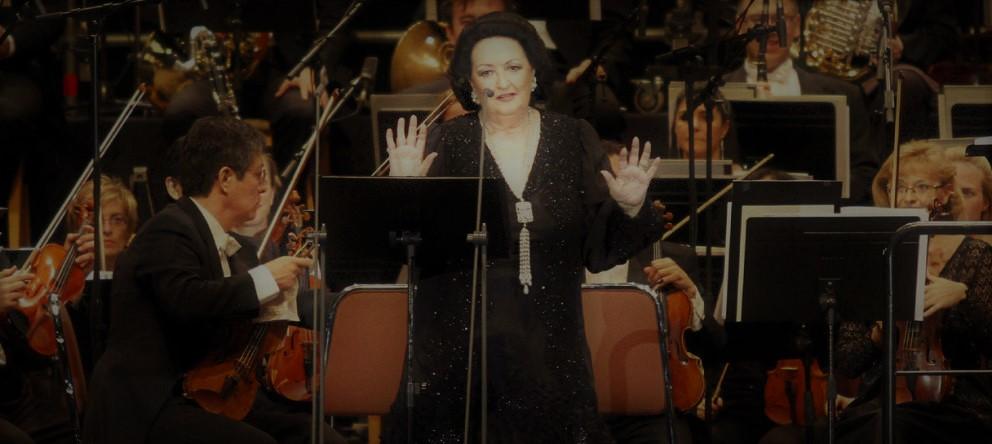 La soprano Monserrat Caballé, durante una actuación.