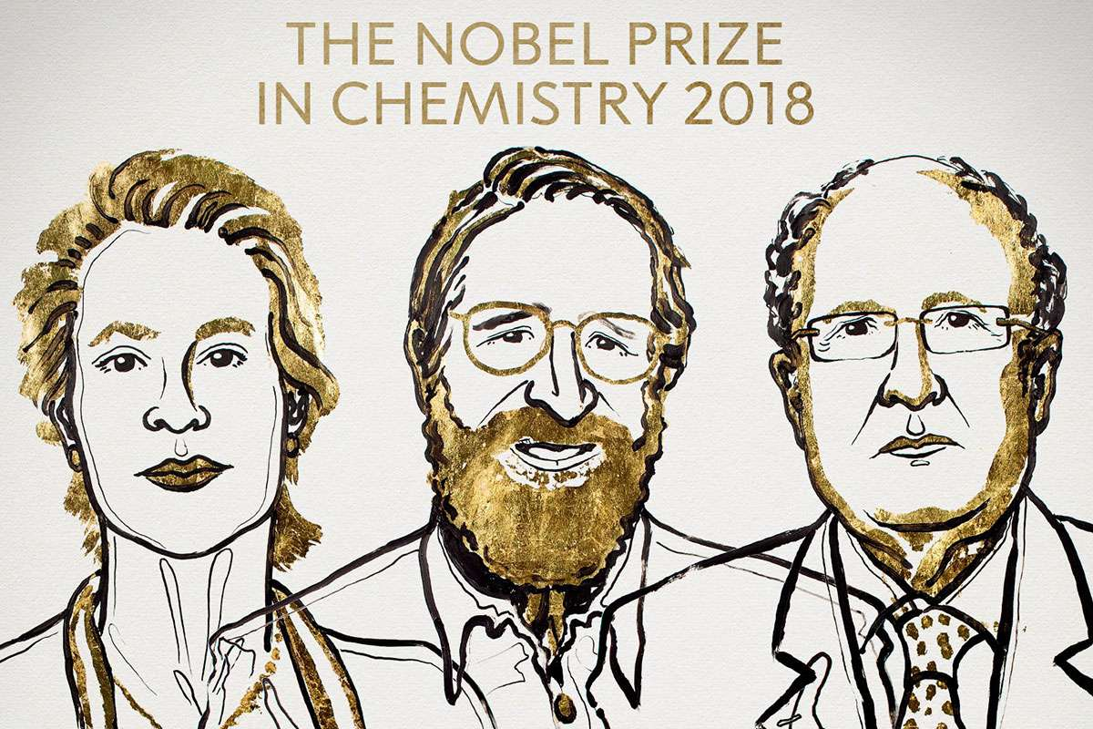 Nobel de Química 2018 para Frances Arnold, George Smith y Gregory Winter