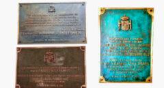 Placas conmemorativas de inauguraciones de Paradores por Rodrigo Rato