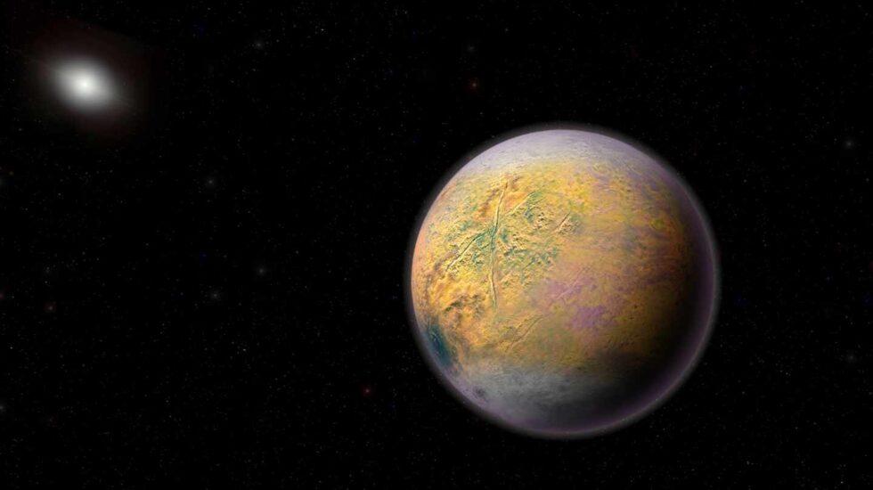 Recreación de una supertierra más allá de Plutón