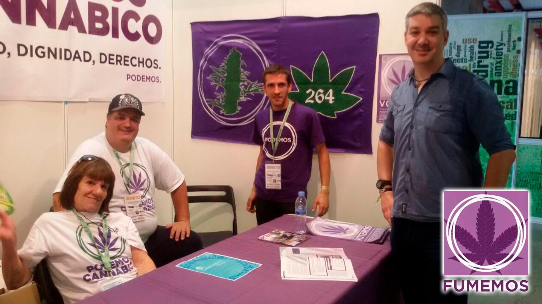 Imagen del Círculo Podemos Cannábico, uno de los pocos operativos a nivel estatal.