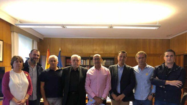 El secretario de Estado de Seguridad Social, Octavio Granado, antes de reunirse con las plataformas de policías locales.