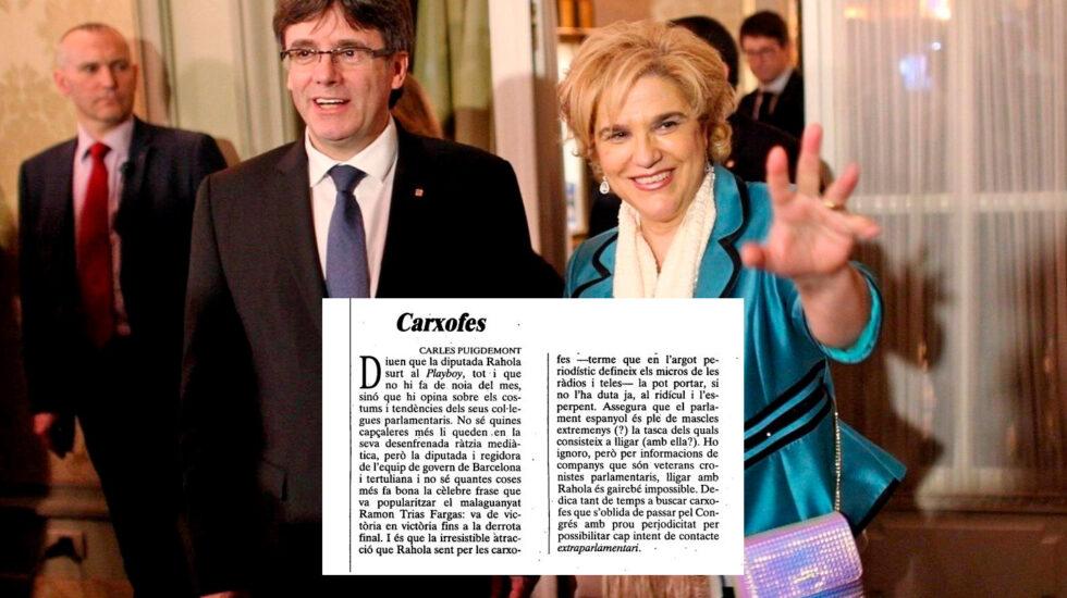 Puigdemont y Pilar Rahola
