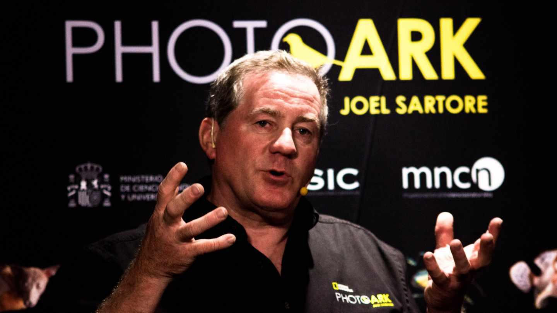 El fotógrafo Joel Sartore durante su visita a Madrid