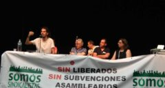 El diputado de Podemos Alberto Rodríguez habla en la segunda asamblea de Somos, en mayo de 2017.