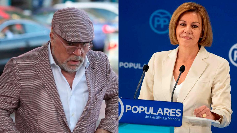 El comisario ya jubilado José Manuel Villarejo y María Dolores de Cospedal, ex secretaria general del PP.