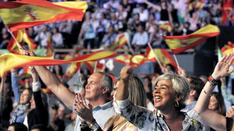 Asistentes al acto de Vox en Vistalegre, el pasado 7 de octubre en Madrid.