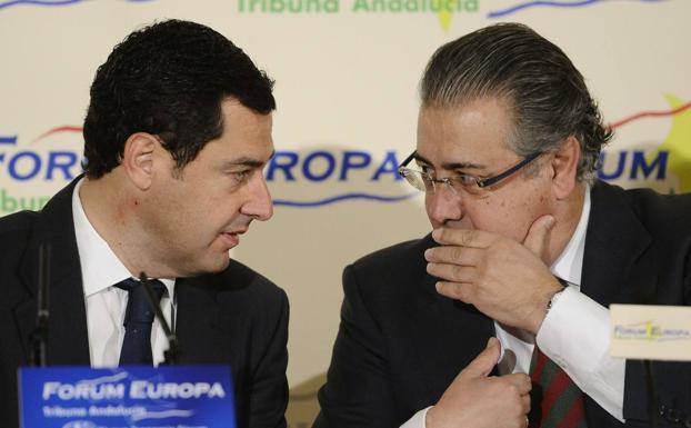 Juan Manuel Moreno y Juan Ignacio Zoido en una imagen de archivo