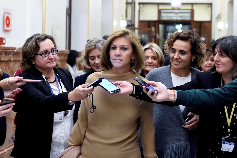 María Dolores de Cospedal llega al Congreso.