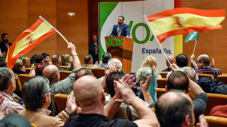 Santiago Abascal, en un acto de Vox en Bilbao.