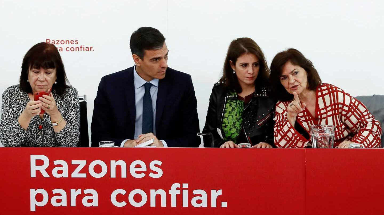 Narbona, Sánchez, Lastra y Calvo, en la Ejecutiva del PSOE.