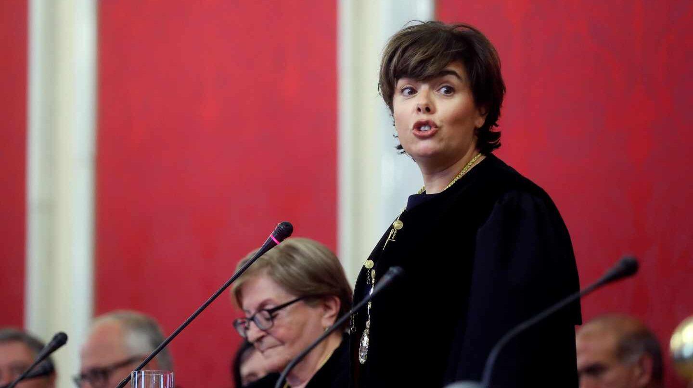 La ex vicepresidenta del Gobierno, Soraya Sáenz de Santamaría, en el Consejo de Estado.